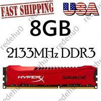 Kingston HyperX Savage 8GB 2133MHz DDR3 CL11 DIMM Desktop RAM Memory 240Pin USA