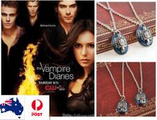 The Vampire Diaries Damon Stefan Salvatore Lapis Lazuli Vintage Pendant Necklace