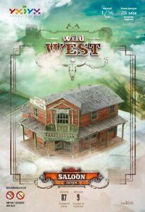 Wild West Saloon Prefabricated Smart Paper Model 1/56