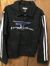 Bishop NASCAR Jacket XL Black Powerade Snap Closure Nice