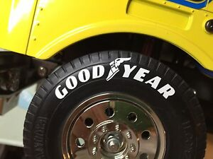 TAMIYA 1/14 SCANIA MAN VOLVO HAULERS truck stickers for wheels tyres GOOD YEAR