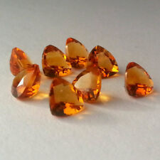 Natural Citrine 4mm Trillion Cut 5 Pieces Top Quality Loose Gemstone AU