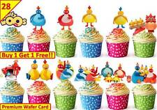 56 twirlywoos COMPLEANNO Cup Cake Fata Festa Decorazioni Per Riso / wafer commestibile STAND UP