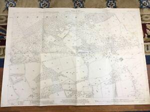1934 Antique Map of Surrey Wyke Normandy Catherine Frith Vintage Original
