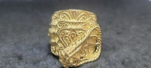 9ct Gold Heavy Saddle Mens Ring