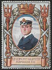 1914 Lord Robert Memorial Fund Cinderella Lt. Com. M. E. Nasmith Submarine E.ll.