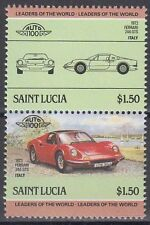 St. Lucia 1985 ** Mi.746/47 Automobile Autos Cars Ferrari 246 GTS [sq6259]