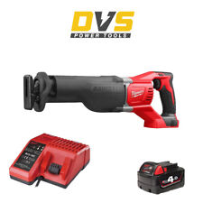 Milwaukee M18BSX-0 Cordless M18 18V Reciprocating Saw, 4Ah Battery & Charger Set