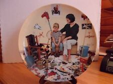 )prydning Mom with New Baby & Boy Family Collector plate 1986 Bing & Grondahl