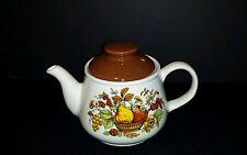 Sadler England ~ 4 cup Teapot Fruit Basket Bountiful Harvest