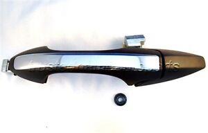 for Acura TSX Outside Exterior Door Handle Rear Left Driver Primed Black Chrome