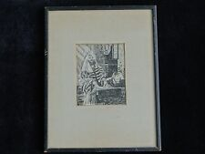 Original Pen and Ink Art Drawing SIGNED J.M Tucker Framed Beautifully Detailed