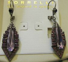Sorrelli African Violet Earrings EDB16ASAFV antique silver tone