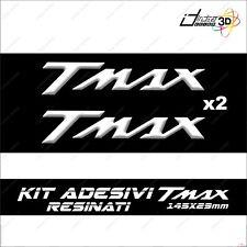 Blanco 2 Adhesivos//Stickers Resina 3D Letras Tmax para Scooter Moto X Yamaha T MAX 500-530