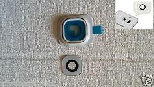Ricambio lente vetrino COVER Camera Fotocamera PER GALAXY S6 G920 G920F BIANCO