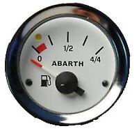 Strumento Livello Benzina Carburante FIAT 500 126 Epoca Fondo Bianco Numeri Neri