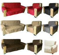 SOFA ARM CHAIR FURNITURE PET DOG PROTECTOR QUILTED SLIP COVER SETTEE CHAIR THROW