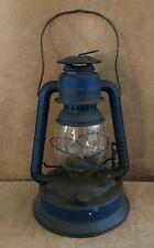 Vintage Dietz Little Wizard #1 blue Lantern fuel oil Barn clear glass railroad