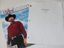 """WALKER TEXAS RANGER"" Original Working Movie TEASER Script by NICK COREA 1995"