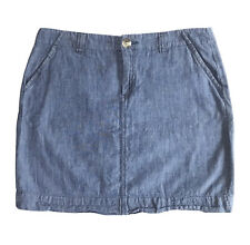 Old Navy Women's Skirt Size 4 Blue Denim Above Knee Flap Pocket Lightweight Mini