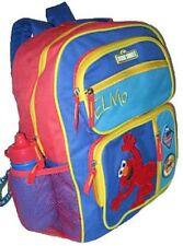 """Sesame Street Elmo Large BACKPACK 16"""" School bag Bonus Sports Bottle New"""