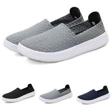 Mens Slip On Round Toe Weave Pumps Loafers Driving Boards Sneakers Shoes Casual