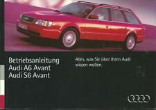 AUDI S6 A6 Avant C4 Betriebsanleitung 1995 Bedienungsanleitung Handbuch BA