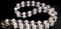 Vintage Rose quartz beads necklace.