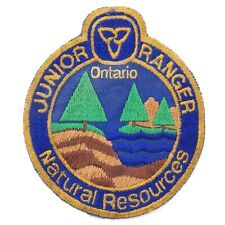 Junior Ranger Natural Resources Ontario Sew On Patch S417