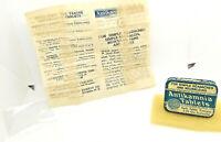 Vintage medicine  tin- Antikamnia Tablets FOR SIMPLE HEADACHES W, ADS INSERT .