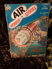 AIR WONDER STORIES PULP: Magazine OCTOBER 1929 #4 science fiction scarce