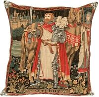 "NEW 18"" X 18"" KING ARTHUR BELGIAN TAPESTRY CUSHION COVER WITH ZIP CLOSURE, 1222"