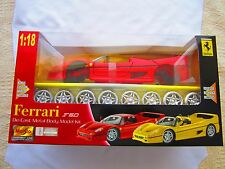 Ferrari F50 Die Cast Metal Body Model Kit 1:18 New in Box, Bonus Custom Wheels