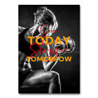 Workout Fitness Girl Poster Bodybuilding Canvas Silk Print Gym Room Decor 001