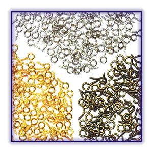 20 40 Schraubösen Ösen Schrauben Ringschrauben Mini Gold Silber Bronze