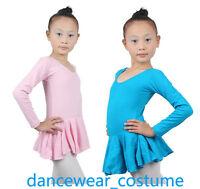 New Girls Kids Ballet Tutu Bodysuit Leotard With Ruffled Skirt Dance Dress SZ3-8