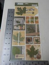PEBBLES INC. REAL LIFE NATURE SAMPLER LEAVES OUTDOORS STICKERS A4175