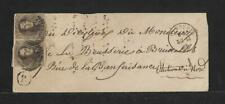 BELGIUM DIXMUDE Sc #6 PAIR ON COVER 1860