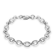 Fashion Retro Men Women 925 Silver Plated Rings Chain Bangle Bracelet Wristband