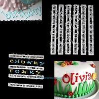 Alphabet Number Letter Cake Decor Mold Fondant Icing Cutter Set Plastic Mold
