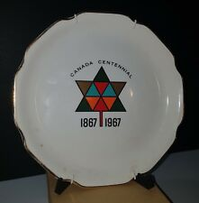 Vintage Canadian Centennial 22k Gold Trimmed Wall Plate