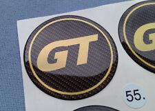 (GT55CG) 4x GT Embleme für Nabenkappen Felgendeckel 55mm Silikon Aufkleber