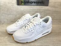 Men's Nike Air Max 90 Casual Shoes White/Gum Light Brown DC1699-100 Size 8