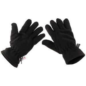 Schwarze Fleece-Fingerhandschuhe Handschuhe gefüttert Winter Handschuhe