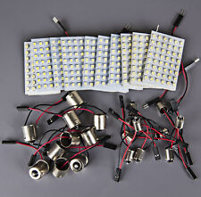 10x RV Trailer 48 SMD White High Power LED Light Panel+1156 BA15S+BA9S Adapter