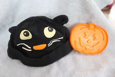 Free Shipping! Halloween Black Cat~Knit Baby Hat~One Size & Cookie Cutter