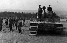 WW2 Picture Photo 1943 German Gen W. Krüger Tiger I heavy tank Das Reich 1673