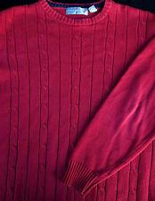 Oscar De La Renta Mens Pullover Knit Crew Neck Long Sleeve Sweater X Large XL