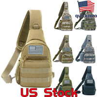 Men Military Shoulder Bag Hiking Travel Day Outdoor Backpacks Hamburg Chest Pack