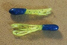 Crappie, Panfish Tube Fishing Lure 1 Pack Of 15 Soft Plastic 1 1/2 in Mini Tubes